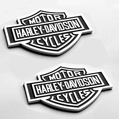2x OEM Harley Davidson Fuel Tank Chrome Emblems Badges, used for sale  Delivered anywhere in USA