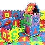 Puzzle Mat Vibola Baby Child Number Alphabet Puzzle Foam Maths Educational Toy Gift 36Pcs (Multicolor)
