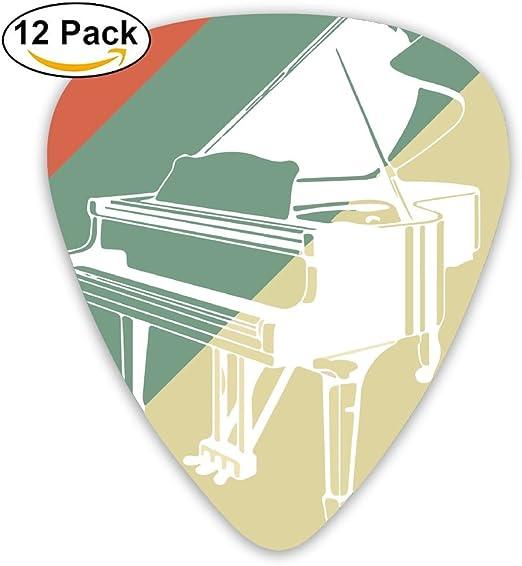 QVRQ Púas para Guitarra con diseño de Silueta Vintage de Piano, 12 ...