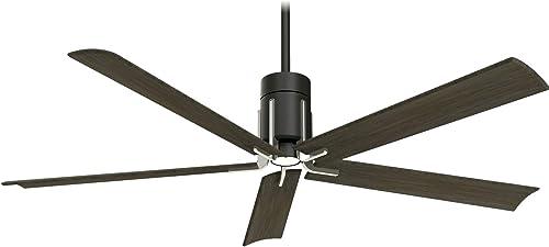 Minka-Aire F684L-MBK/BN Clean 60 Inch Ceiling Fan