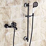 MOMO Dusche Set Schwarz Antiken Dusche Wasserhahn Kupfer Dusche Set Europäischen Bad Wasserhahn Mischventil