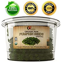 Pumpkin Seeds - Organic Raw Pepita Seeds - USDA Organic - 100% Certified Gluten Free, Kosher & Vegan - Perfect For Trail Mix Cooking and Baking - Great Source of Zinc - 8 Oz