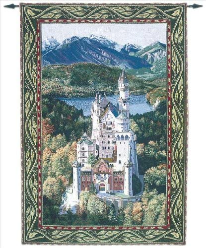Manual Neuschwanstein Castle Grande Tapestry Wall Hanging, 56 X 80-Inch