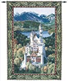 Manual Neuschwanstein Castle Grande Tapestry Wall Hanging, 56 X 80-Inch