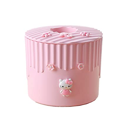 Hello Kitty  Home Car Tissue Box Cover Case Container Pouch Pink And White