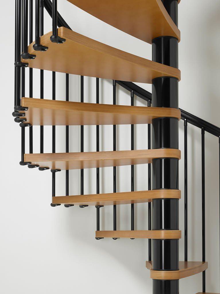 ARKE nice1 – kits de escalera Caracol de madera lacada esmalte negro – ajustable, Interior Stairway: Amazon.es: Bricolaje y herramientas