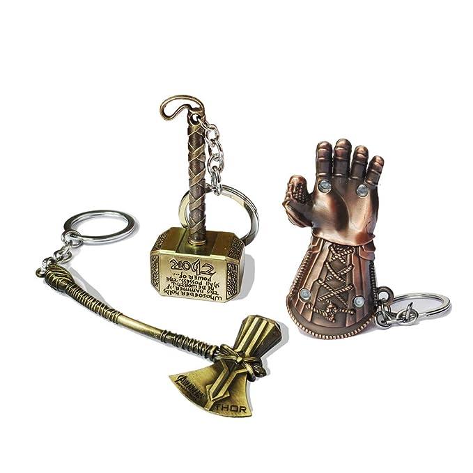 Amazon.com: Llavero de Thor Hammer Axe de los Vengadores de ...