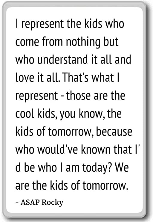 Represento a los niños que vienen de la nada pero W... - ASAP ...