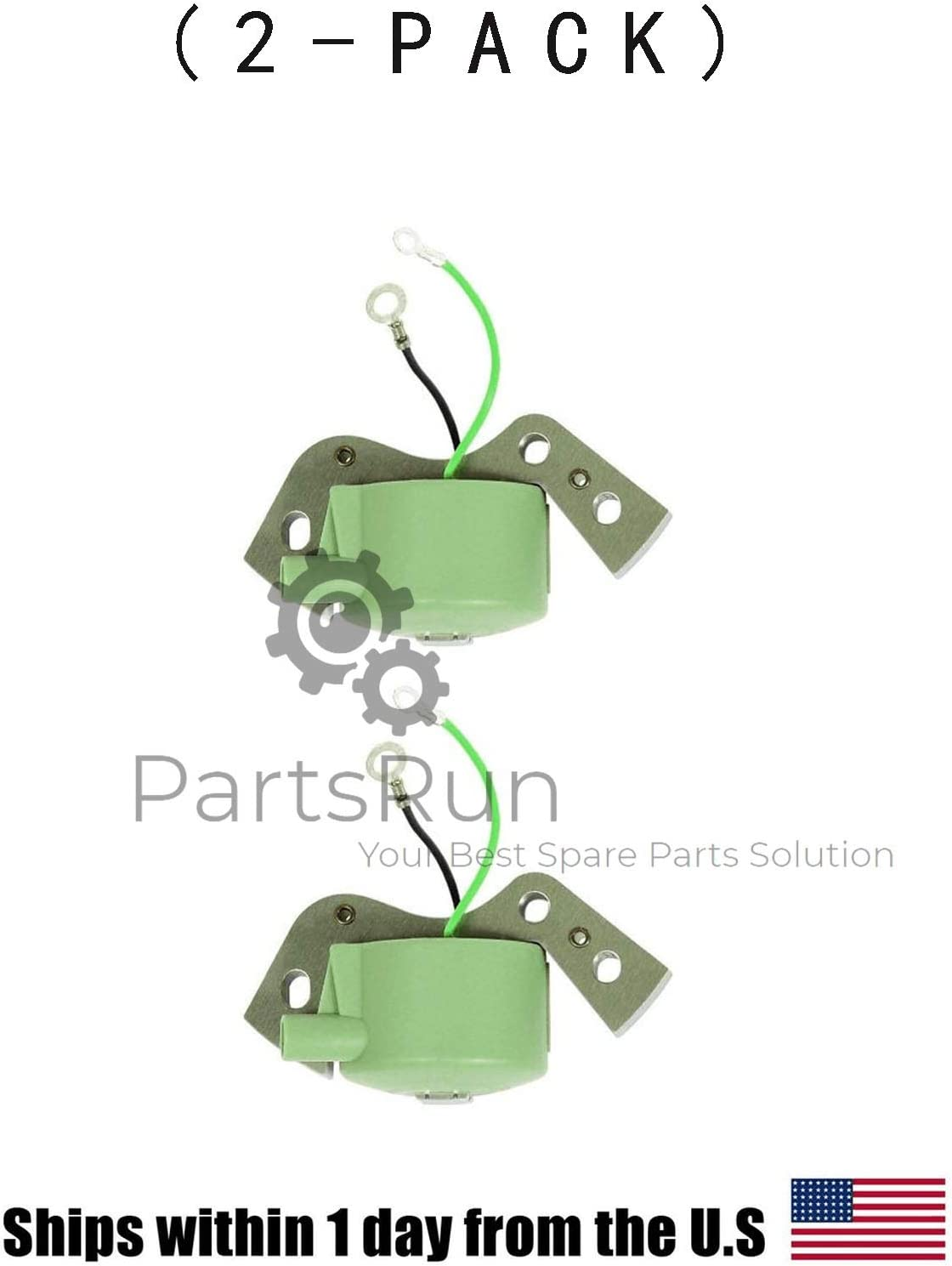 PARTSRUN High Performance 2PCS Igintion Coil for OMC Johnson Evinrude Outboard 582995 584477 580416 Replaces Sierra 18-5181 GLM Mallory CDI 183-4477 Fits Lawnboy 580184,ZF089V
