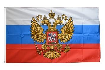 Fahne Flaggen RUSSLAND WAPPEN 150x90cm