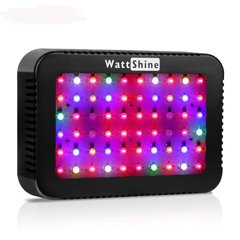 LED Grow Light 300 Watt Hydroponics Full Spectrum Indoor Plants Lighting with UV and IR for Veg and Flower