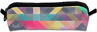 Cool Colorful Geometric Triangles Unisex Handy Handmade Canvas Pencil Cases & Bags Pencil Box Pencil Bag Pen Case