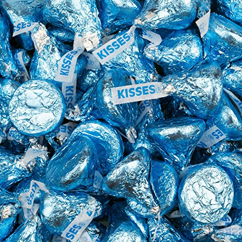 Light Blue Candy 2lb Hershey's Kisses, Blue Candy for Candy Buffet - Boy Baby Shower Candy (Free Cold - Chocolates Blue