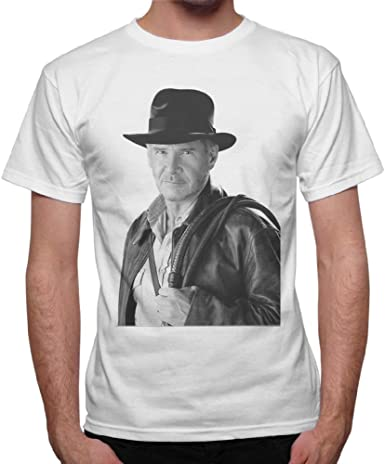 Camiseta hombre Indiana Jones Film aventuras Harrison Ford – Blanco Bianco XX-Large: Amazon.es: Ropa y accesorios