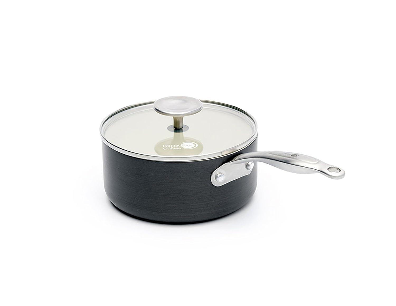 GreenPan Brussels cw001666 - 002 - Cazo aluminio negro 18 cm: Amazon.es: Hogar