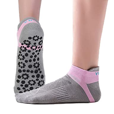 Amazon.com: Calcetines de yoga para mujer antideslizantes ...