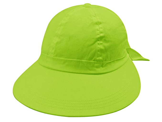 e9d0bfa41d9eb Image Unavailable. Image not available for. Color  Lime Green Wide Brim  Peak Gardening Sun Hat