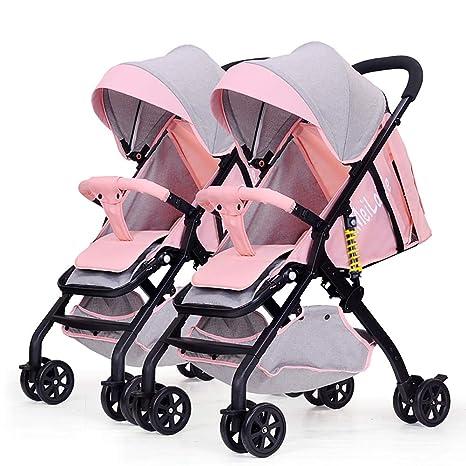 Strollers NAUY @ Cochecito de bebé Gemelo, Plegable Ligero ...