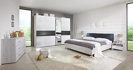 Camera Da Letto Rovere Bianco : 3 pezzi in camera da letto in rovere bianco di nb con abs. in grigio in