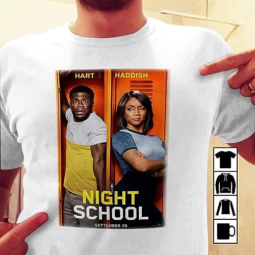 Amazon Com Night School Movie 2018 Poster White T Shirt Handmade