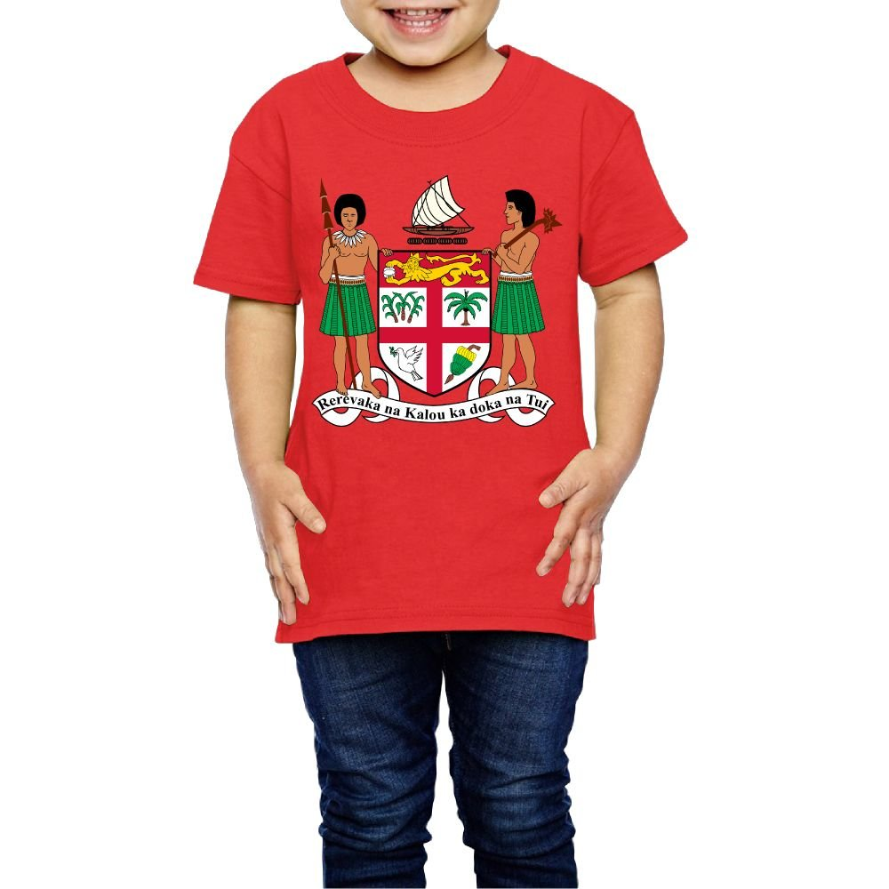 Tghhujffcbjj Girls Coat Of Arms Of Fiji T-Shirt For Birthday Red 2 Toddler