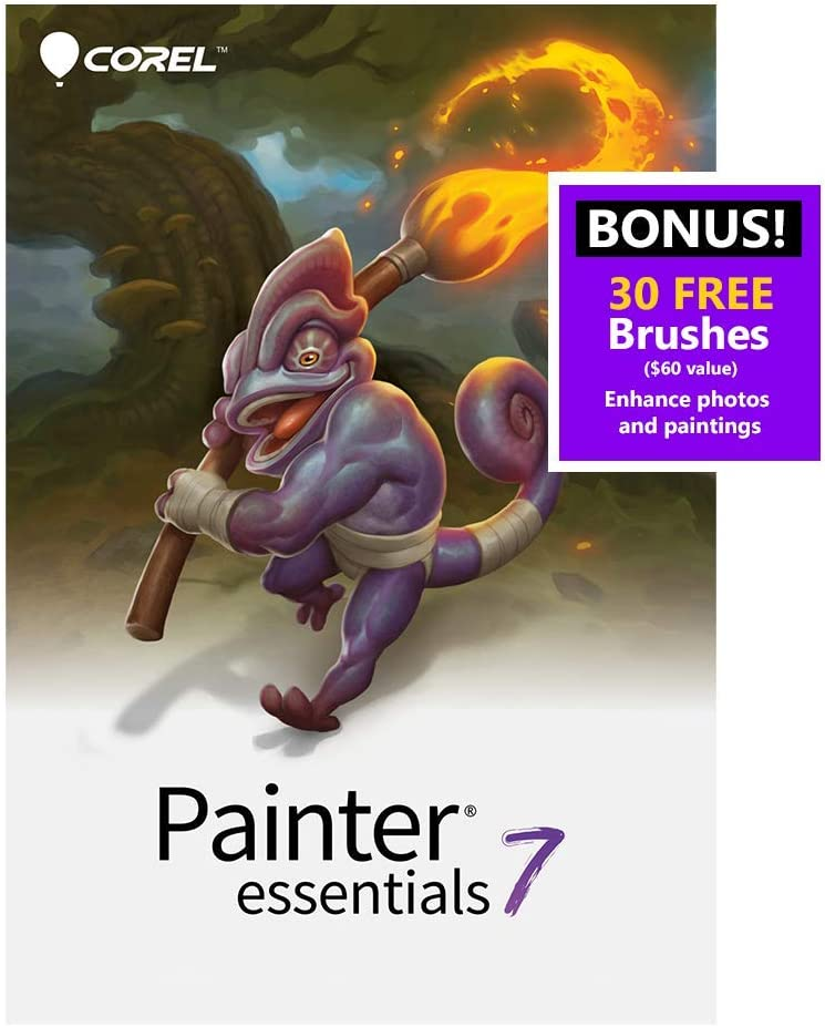 Corel Painter Essentials 7   Digital Art Suite   Amazon Exclusive includes 30 FREE Brushes valued at $60 [Mac Download] [Old Version]