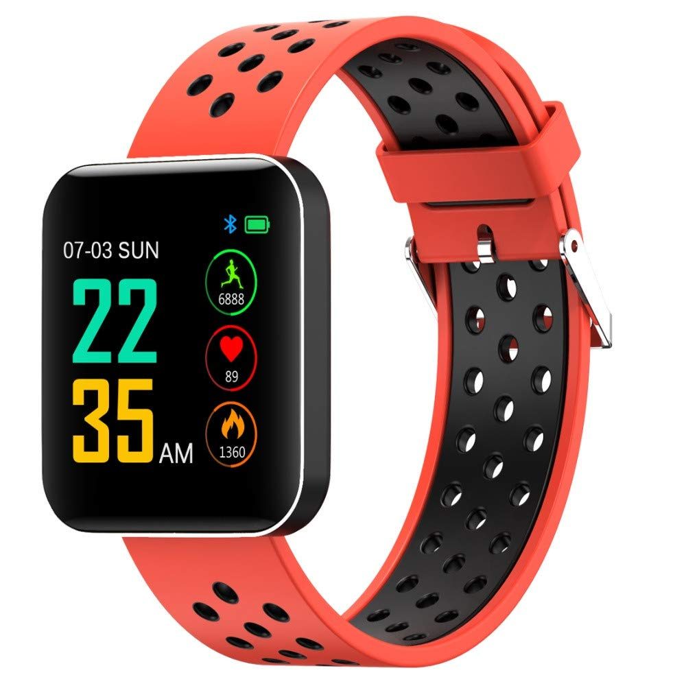 Esharing 1.5inch 32M Multifunctions Smart Wristband Display Sport Armband 24h Motion Monitoring Waterproof Watch for S88 (Orange)