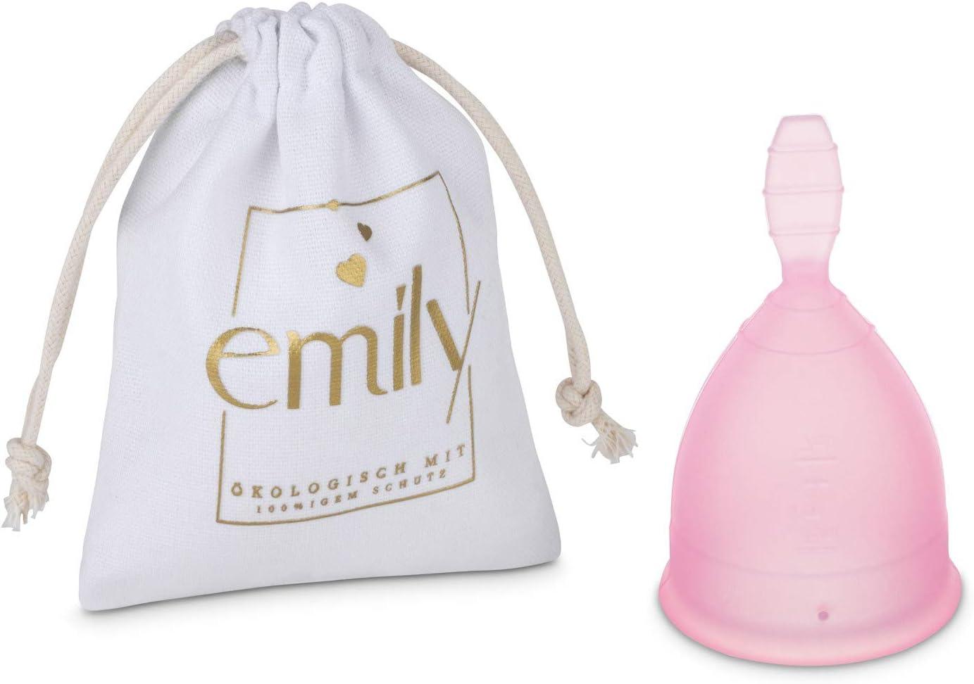 Copa menstrual reutilizable Copa individual en tamaño L y ROSA - Alternativa práctica y fiable a los tampones y toallas sanitarias