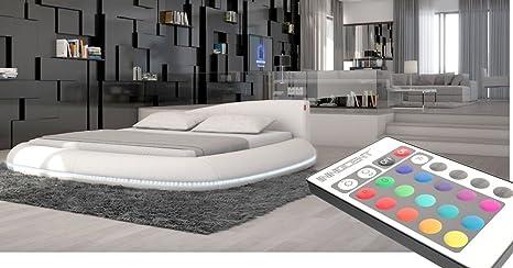 Designer letto illuminazione a LED imbottitura letto rotondo letto ...