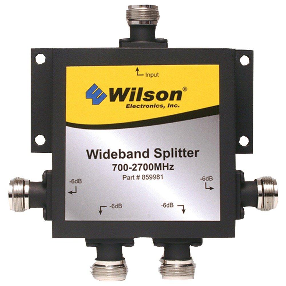 Wilson Electronics 859981 4ウェイ700 MHz – 2,700 MHz Splitter with Nメスコネクタ B00K49UMEQ