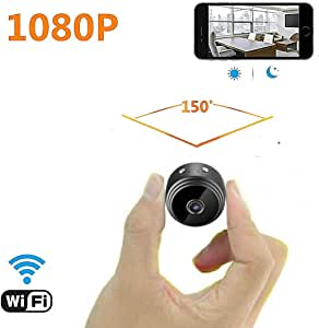 Mini Spy Camera WiFi Hidden Camera for Car, 1080P Wireless Small Indoor Home Security Cameras Nanny Cam with Motion Detection and Night Vision