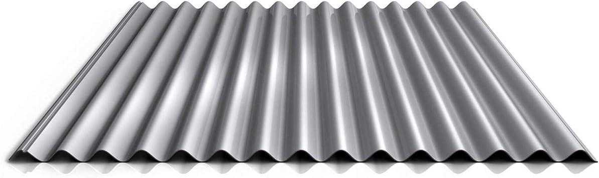 Dachblech Profilblech Wellblech Material Stahl Farbe Reinwei/ß Beschichtung 25 /µm Profil PS18//1064CR St/ärke 0,63 mm