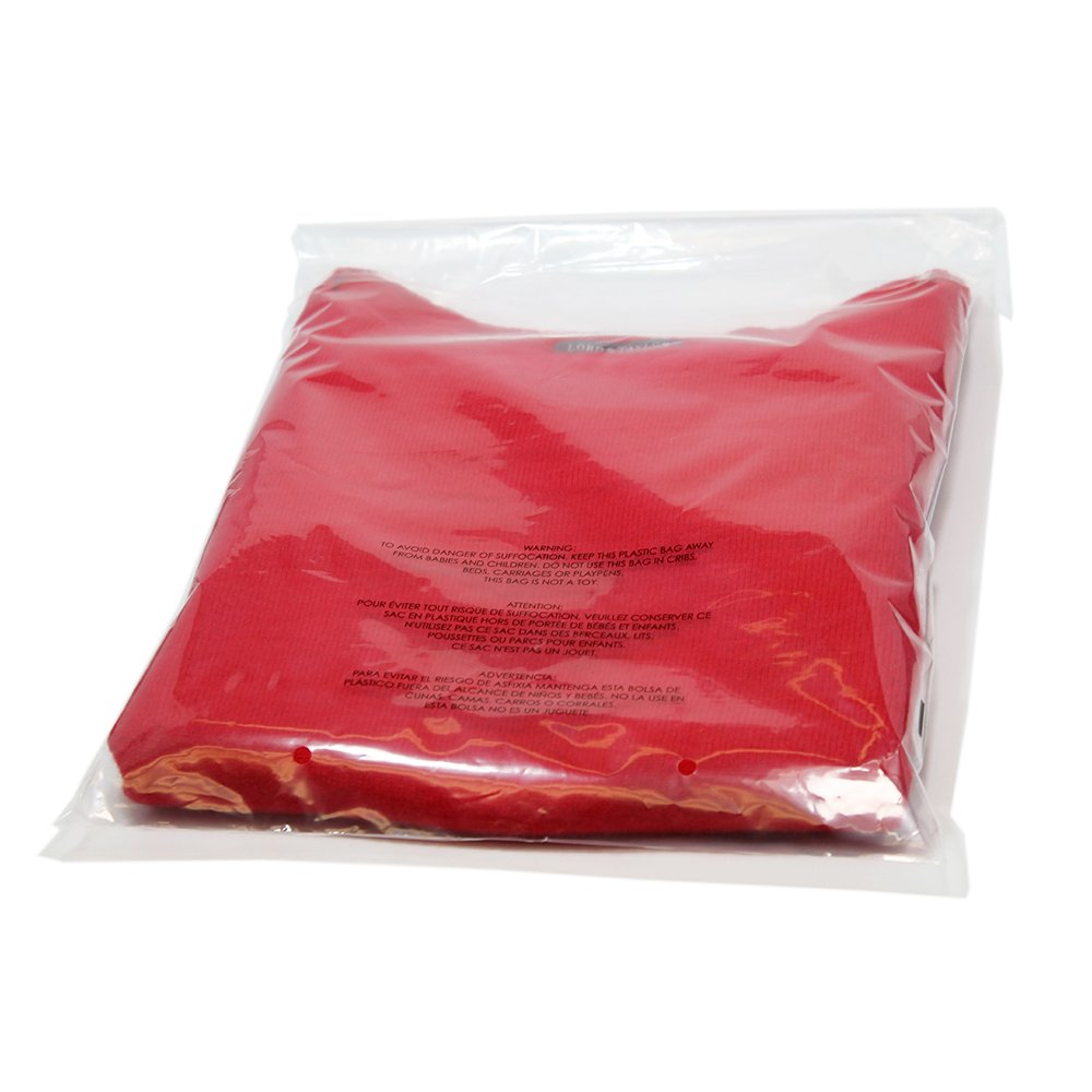 "100 Pieces Clear 6X9"" Poly Bags with Suffocation Warning, Self Seal, THICK 1.57 mil, vent holes (6X9 Inches) Kaleido KD-POLY-100-6X9N"