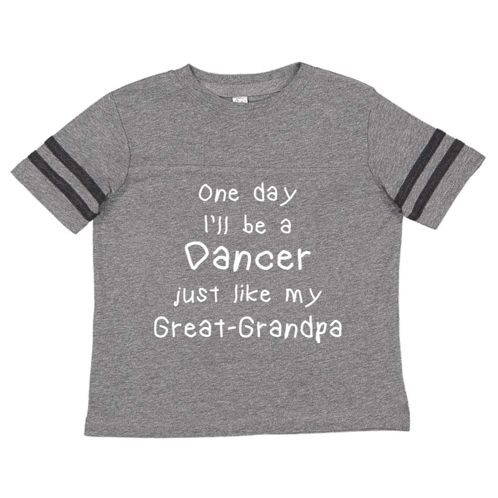 Toddler//Kids Sporty T-Shirt One Day Ill Be A Dancer Just Like My Great-Grandpa