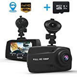 """Car Dash Cam with GPS, Full HD 1080P 2.7"""" Screen 140 Wide Angle Dashboard Camera, DVR Vehicle On-Dash Camera with G-Sensor, Loop Recording, Night Version(32G SD Card included)"""