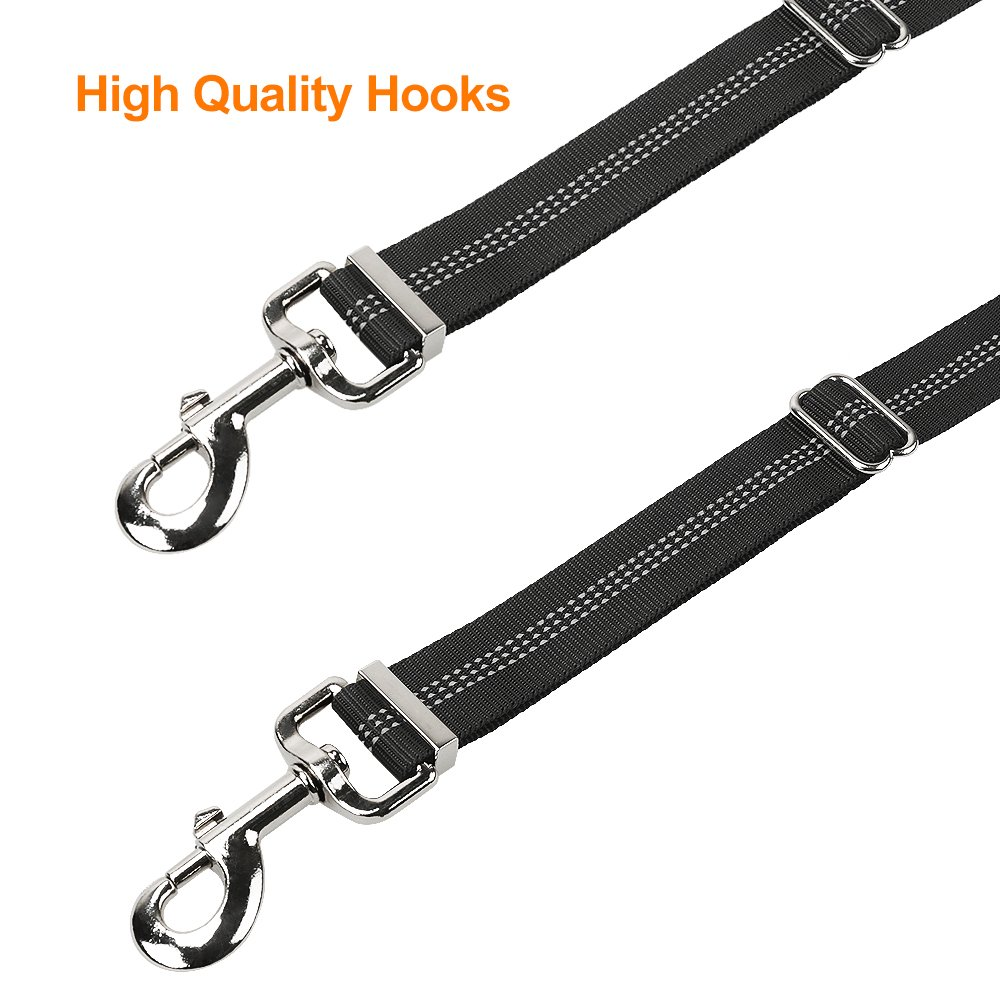 2018 Upgraded Version 360/° Swivel No Tangle Walking /& Training Leash Dual dog leash with waste bags dispenser Shock Absorbing Reflective Bungee for Two Dogs Peteast Double Dog Leash