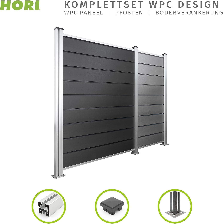 Hori Wpc Zaun Design I Sichtschutz Zaun Steckzaun Gartenzaun