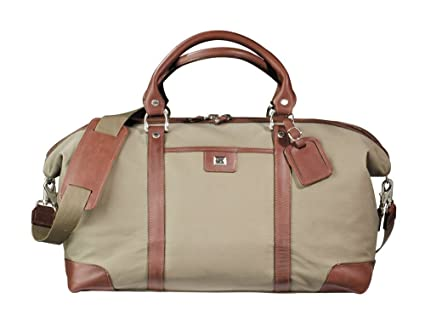 Amazon.com  Cutter   Buck Weekender Leather and Canvas Duffel Bag ... 1a7c15823d9f4