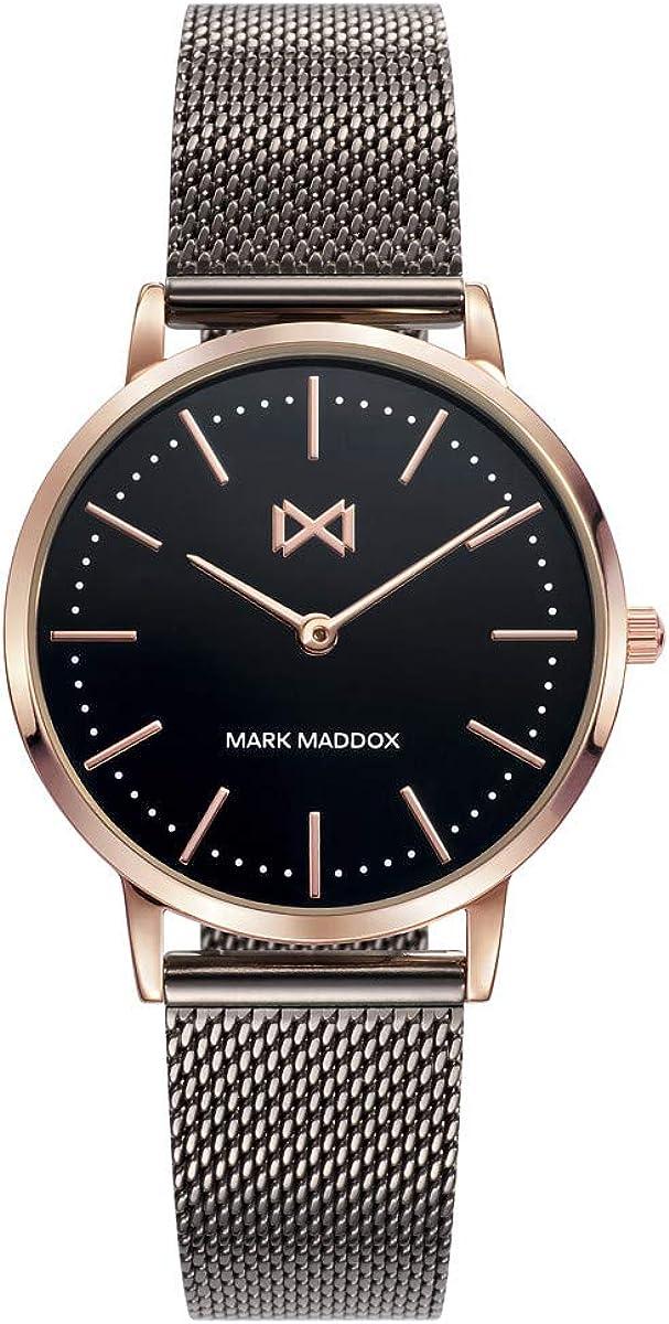 Reloj Mark Maddox para Mujer con Correa Negra y Pantalla en Negra MM7115-57