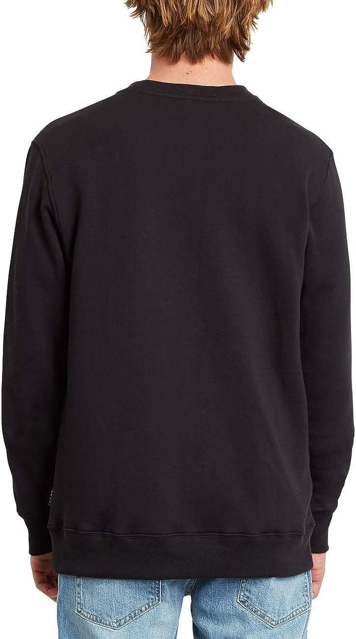 Volcom Herren Sweatshirt Sngl STN Crew Black