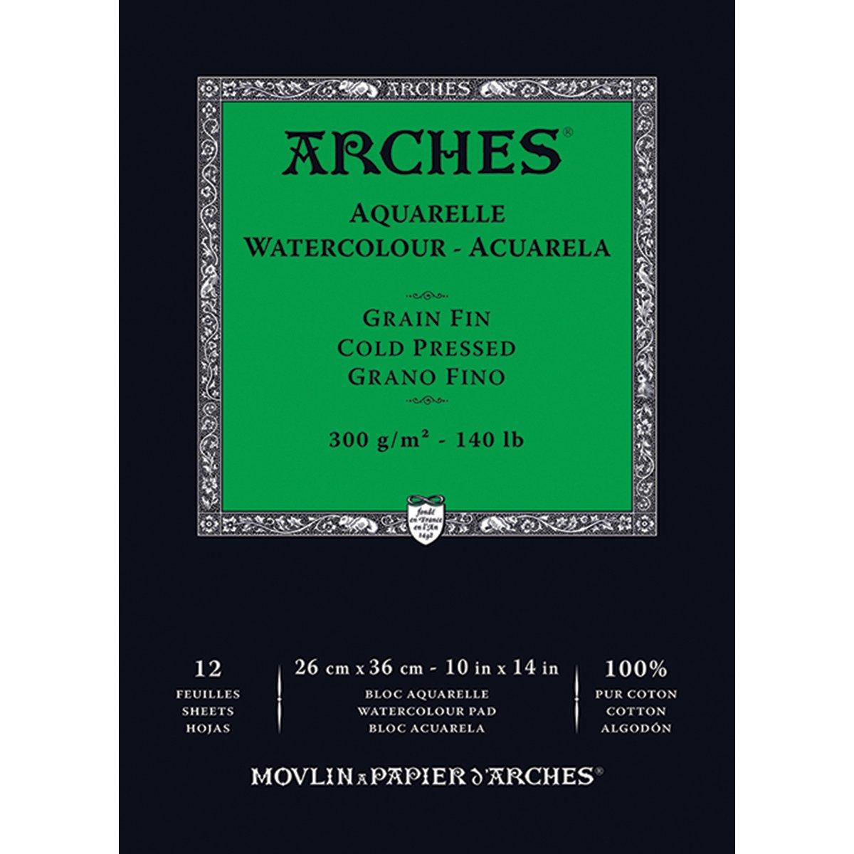 Arches Watercolor Paper Pad, 140 pound, Cold Press, 10''x14'' (1795093)