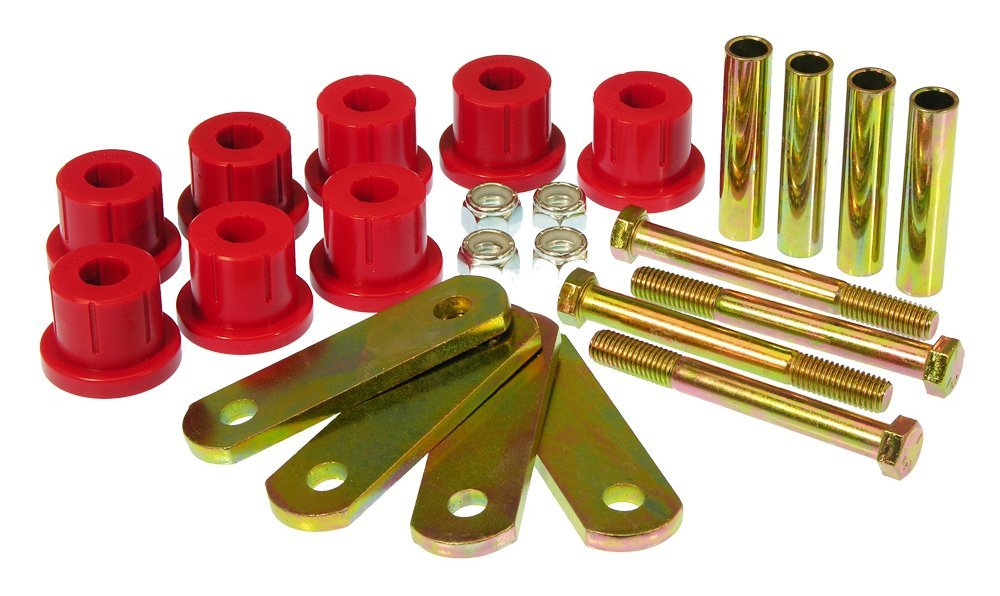 Prothane 7-1051 Red Rear Mono Leaf HD Shackle Bushing Kit