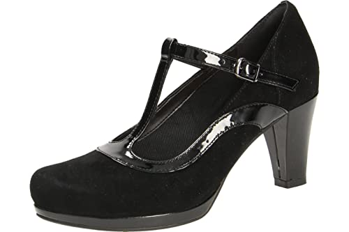 c2c4580547c12d Clarks Chorus Pitch Womens T-Bar Wide Court Shoes  Amazon.co.uk ...
