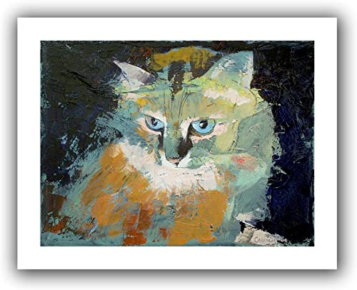 Art Wall Himalayan Cat Unwrapped Canvas Art by Michael Creese, 40 by 52-Inch