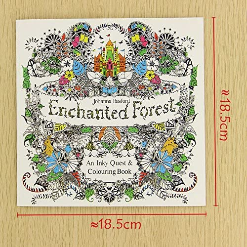 - Amazon.com: 24 Pages Enchanted Forest English Edition Coloring Book For  Children Adult Relieve Stress Kill Time Painting Drawing Book (2pcs):  Office Products