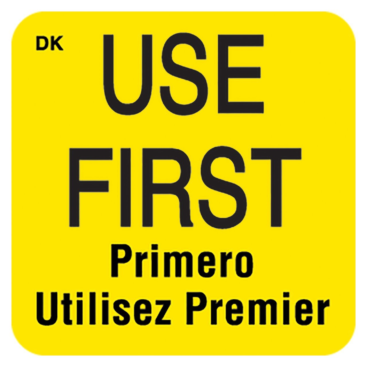 DayMark Use First Permanent Label 2 x 2 Roll of 500 Yellow