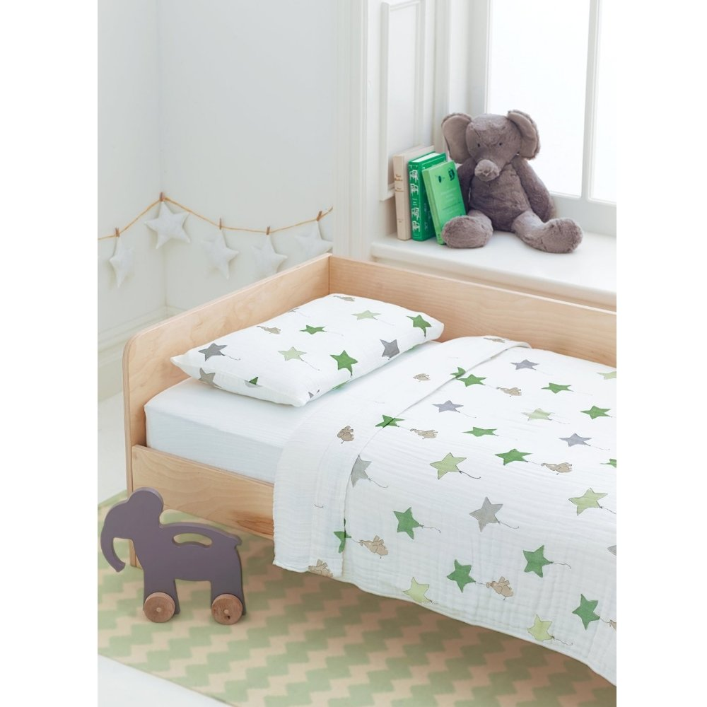 aden+anais Classic Toddler Bed in a Bag - Up Up and Away kids Bedding Sets: Toddler Bedding, Toddler Pillow, Cotton Blanket