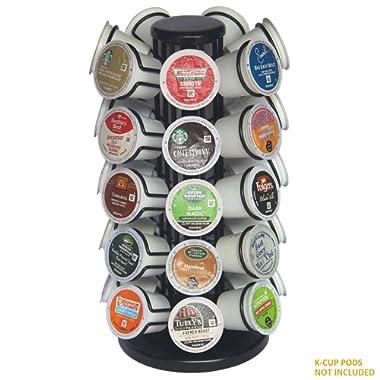 BLACKSMITH FAMILY K-35 Cup Carousel,Coffee Pod Holder Carousel Holds 35 Single Cup Coffee Pods in Matte Black