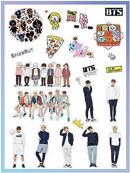 Amazon Com Bts Sticker Set Decal Kpop Bangtan Boys Stickers