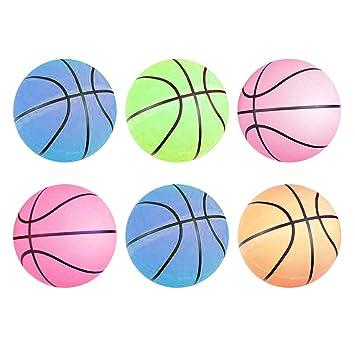 Kicko Balón de baloncesto de neón - Pack de 6 - 9.5 pulgadas ...